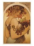Le Fruit Premium Giclee Print by Alphonse Mucha