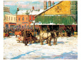 Byward Market, Ottawa Premium Giclee Print by Franklin Brownell