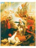 Captain William Rogers Capturing The Jeune Richard I Premium Giclee Print by Samuel Drummond