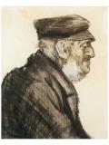 Orphan Man, Bust-Length Premium Giclée-tryk af Vincent van Gogh