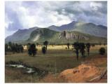 Moat Mountain, New Hampshire Giclee-tryk i høj kvalitet af Albert Bierstadt