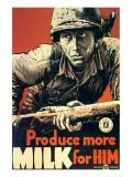Produce More Milk for Him, c.1943 Premium Giclee Print