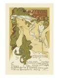 Salon Des Cent, Hall De La Plume Premium Giclee Print by Alphonse Mucha