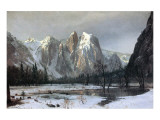 Cathedral Rocks, Yosemite Valley, California Premium Giclee Print by Albert Bierstadt