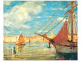 Port de Venise Premium Giclee Print by James Wilson Morrice