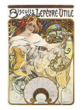 Biscuits Lefevre-Utile Premium Giclee Print by Alphonse Mucha