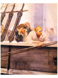 The Brig Covenant in A Fog, Kidnapped Premium Giclee Print by Newell Convers Wyeth