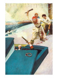 Then The Real Fight Began Ensiluokkainen giclee-vedos tekijn Howard Pyle