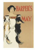 Harper's Magazine, May 1897 Premium Giclee Print by Edward Penfield