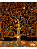 Under the Tree of Life Lmina gicle de primera calidad por Gustav Klimt
