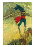The Flying Dutchman Ensiluokkainen giclee-vedos tekijn Howard Pyle