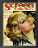 Greta Garbo - ScreenRomancesMagazineCover1930's Print