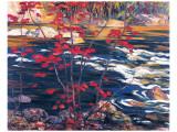 The Red Maple Premium giclée print van A. Y. Jackson