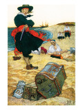 Buried Treasure Premium Giclee Print by Howard Pyle
