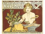 Waverley Cycles Premium Giclee Print by Alphonse Mucha