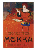Les Cigarettes Mekka Premium gicle print van Charles Loupot