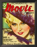 Mae West - Romantic Movie Stories Magazine Cover 1930's Posters
