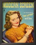 Bette Davis - Modern Screen Magazine Cover 1940's Prints
