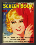 Mae West - Screen Book Magazine Cover 1930's Poster