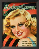 Ginger Rogers - ModernScreenMagazineCover1940's Print