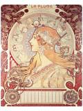 La Plume Premium Giclee Print by Alphonse Mucha