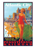 Atlantic City, America's All Year Resort Premium Giclee Print by Edward M. Eggleston