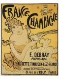 Francia: Champán Lámina giclée prémium por Pierre Bonnard