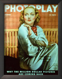Carole Lombard - Photoplay Magazine Cover 1930's Art