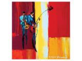 High Note Giclee-tryk i høj kvalitet af Maya Green