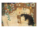 Mutter und Kind Giclée-Premiumdruck von Gustav Klimt