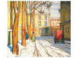 Toronto Street, Winter Morning Premium giclée print van Lawren S. Harris