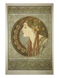 Le Laurier Premium Giclee Print by Alphonse Mucha