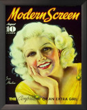 Jean Harlow - ModernScreenMagazineCover1940's Prints