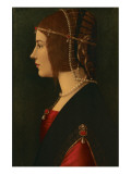 Beatrice d'Este Premium Giclee Print by  Leonardo da Vinci