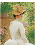 Lady in the Garden Premium Giclee Print by Paul Peel