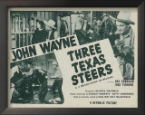 Three Texas Steers Prints