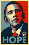 Barack Obama (naděje) Masterprint