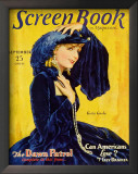 Greta Garbo - Screen Book Magazine Cover 1930's Art