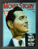 Clark Gable - Movie Story Magazine Cover 1940's Print