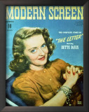 Bette Davis - Modern Screen Magazine Cover 1940's Art
