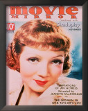 Claudette Colbert - MovieMirrorMagazineCover1930's Posters