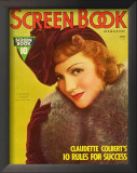 Claudette Colbert - ScreenBookMagazineCover1930's Prints