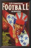 All-American Football Magazine - Pulp Poster, 1943 Print