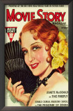 MacDonald, Jeanette - Movie Story Magazine Cover 1930's Prints