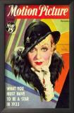 Constance Bennett - Motion Picture Magazine Cover 1930's Art