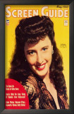 Barbara Stanwyck - Screen Guide Magazine Cover 1940's Art