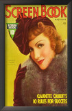Claudette Colbert - Screen Book Magazine Cover 1930's Posters