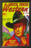 Buck Jones Western - Pulp Poster, 1937 Prints