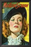 Hepburn, Katharine - Modern Screen Magazine Cover 1940's Art