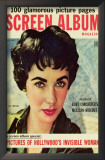 Elizabeth Taylor - Screen Album Magazine Cover 1950's Poster